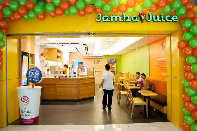 4. Apple Cinnamon Pretzel at Jamba Juice You probably already love the vegan smoothies at Jamba Juice. You may not know the the mind blowing Apple Cinnamon Pretzel is vegan. If you have a sweet tooth craving to satisfy, this is a good choice.