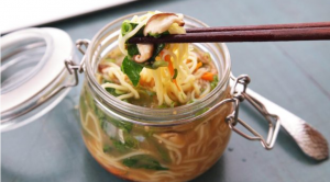 Vegan Noodles And Miso Soup Broth