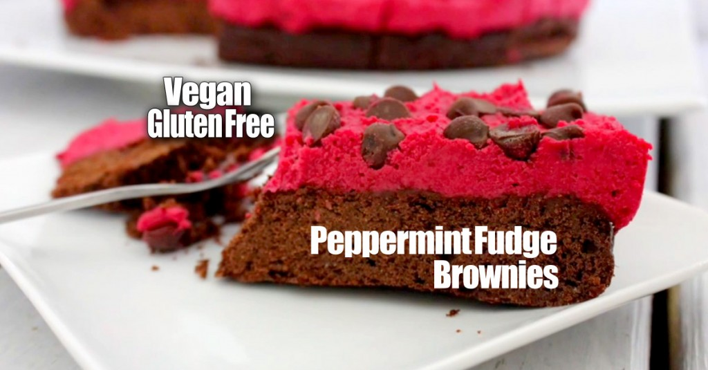 Vegan Peppermint Fudge Brownies