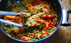 Spicy Rice Noodles In Garlic Ginger Sauce