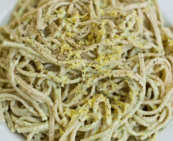 Avocado Pasta Pasta is one of the most glourious dishes ever invented. I thought when I went vegan I would have to give it up. But the opposite has been true. I have more ways to prepare and eat pasta than ever before. This recipe is amazing because it taste great and it only takes 15 minutes! You should check it out.