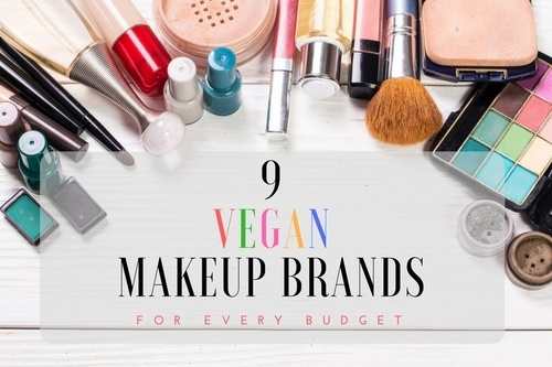 9 vegan makeup against white background