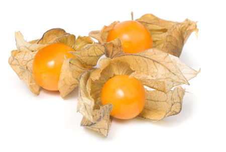 Physalis is a fruit with a name that sounds more like an erectile dysfunction medicine than a fruit. But it is a fruit and a delicious one at that. Physalis is a member of the night shade family and is mostly grown in Columbia and South Africa. The plant grows up to 6 feet high and then spreads to the ground. That makes it similar in appearance to a tomato plant. So it's no coincidence that it is said to taste like a sweet tomato.