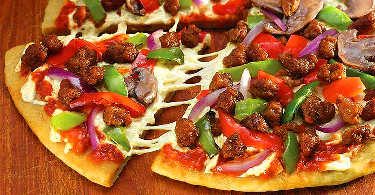 supreme vegan pizza daiya beyond meat - Daiya and Beyond Meat Team Up For Most Epic Pizza Ever