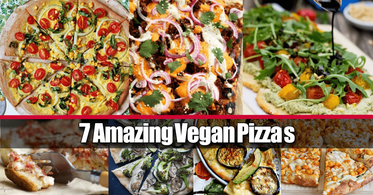 7 easy vegan pizza recipes1 - 7 Amazing Vegan Pizza Recipes