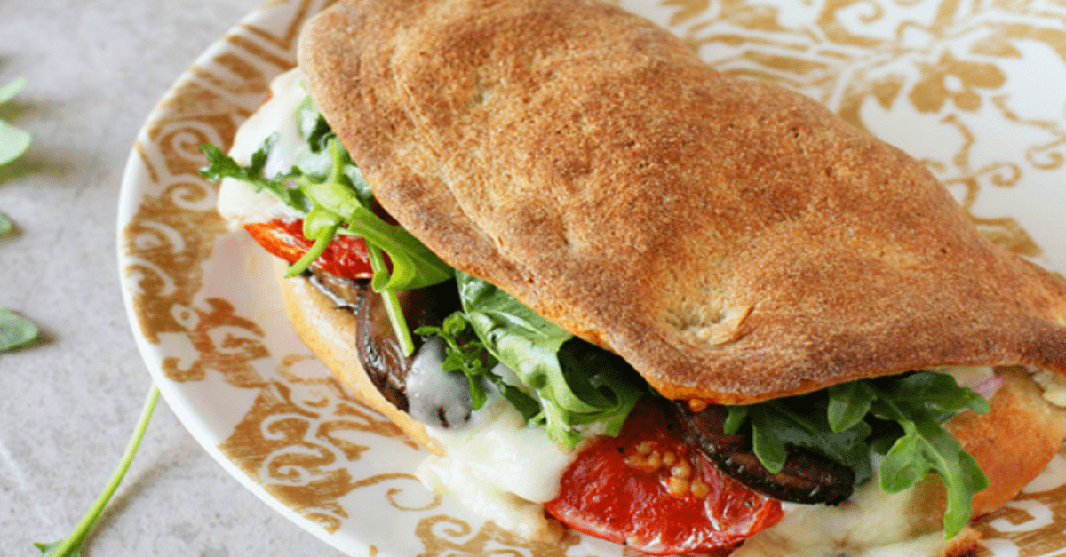 baked pizza sub sandwiches - Baked Vegan Pizza Sub Sandwich