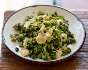 kale with tahini