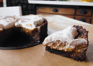 pumpkin pie with whipped cream 2