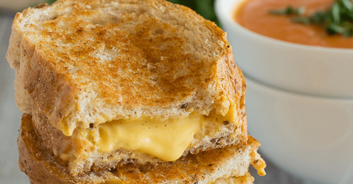 vegan grilled cheese sandwich - Vegan Grilled Cheese Sandwich And Tomato Soup
