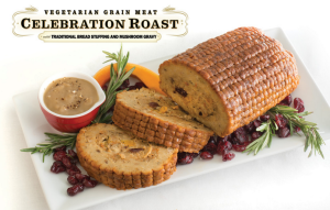 Celebration roast vegan with stuffing and gravy