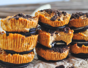 oreo pumpkin cheesecake bites 2