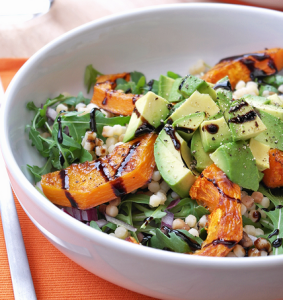 vegan butternut squash and avocado salad recipe
