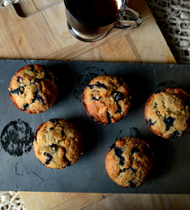 how to make vegan blueberry muffins