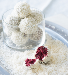 how to make vegan red velvet snowballs