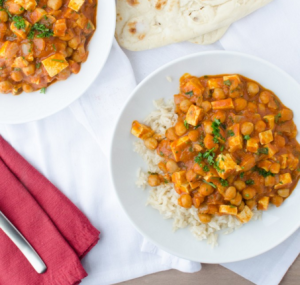 vegan chickpeas and tofu recipe