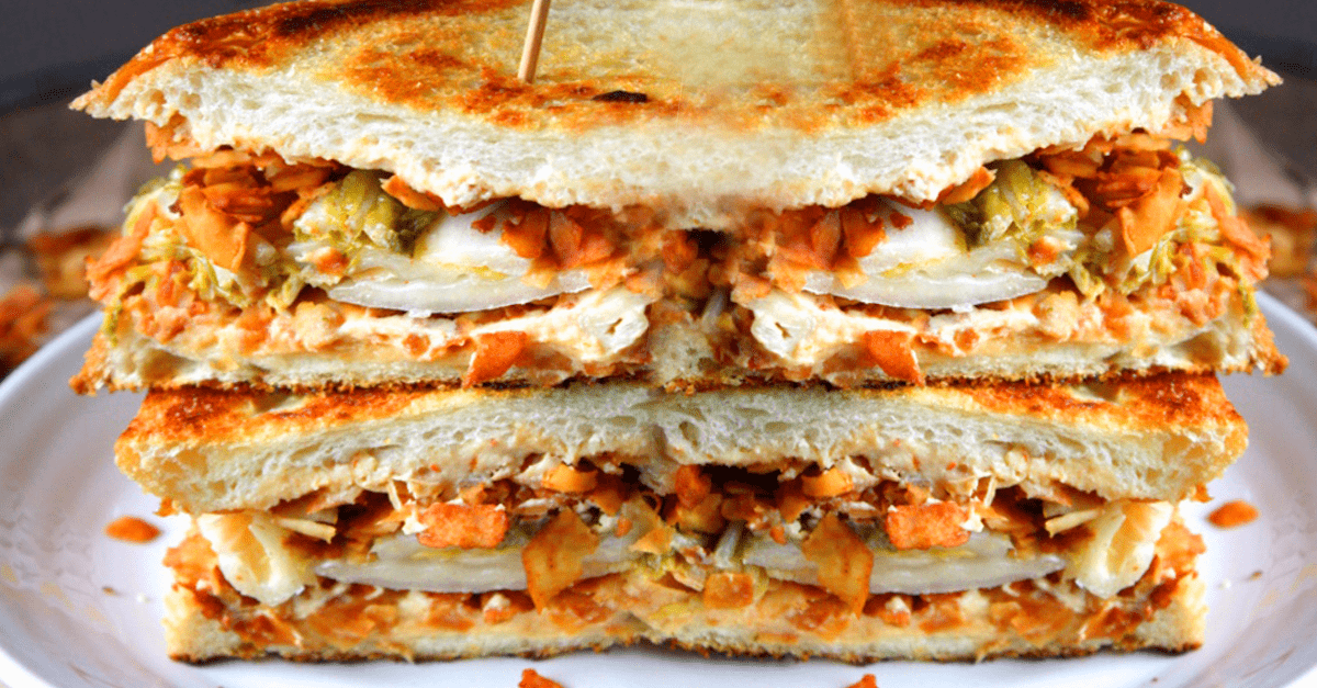 vegan grilled cheese coconut bacon sandwich - Vegan Grilled Cheese Coconut Bacon Sandwich