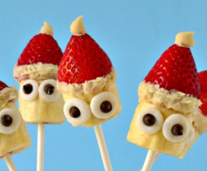 vegan santa christmas fruit pops recipe
