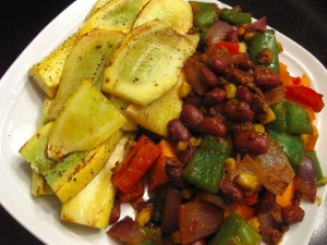 How to make Chili covered sweet potato With Squash