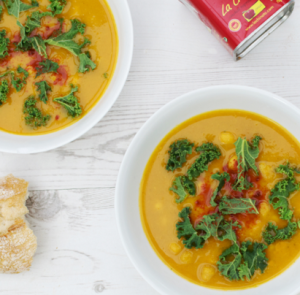 how to make vegan butternut squash, parsnip and kale soup