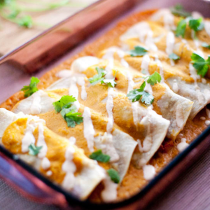 how to make vegan enchiladas with pumpkin enchilada sauce