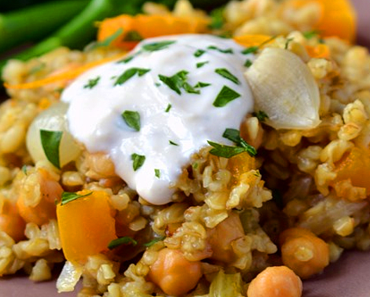 how to make vegan freekeh with butternut squash orange and shallots recipe 370x297 - Vegan Freekeh With Butternut Squash, Orange And Shallots