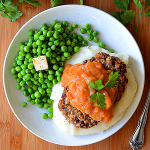 how to make vegan salisbury steak with tomato gravy