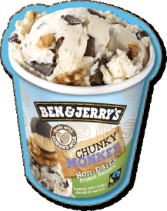 ben jerrys vegan chunky monkey ice cream