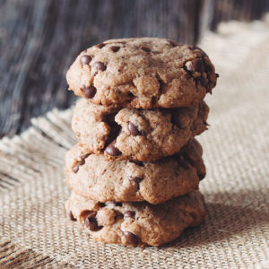 how to make vegan chocolate chip almond butter cookies