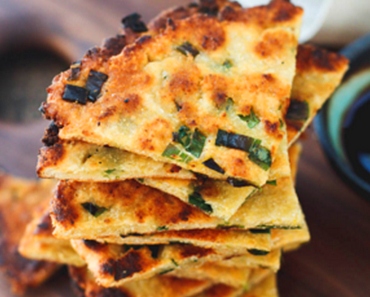 how to make vegan scallion pancakes recipe 370x297 - Vegan Scallion Pancakes