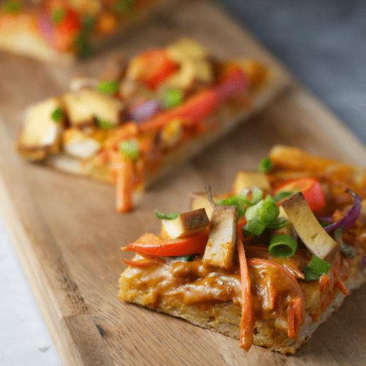 how to make vegan thai tofu pizza