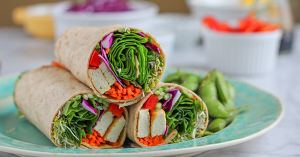 how to make vegan tofu spinach power wrap recipe