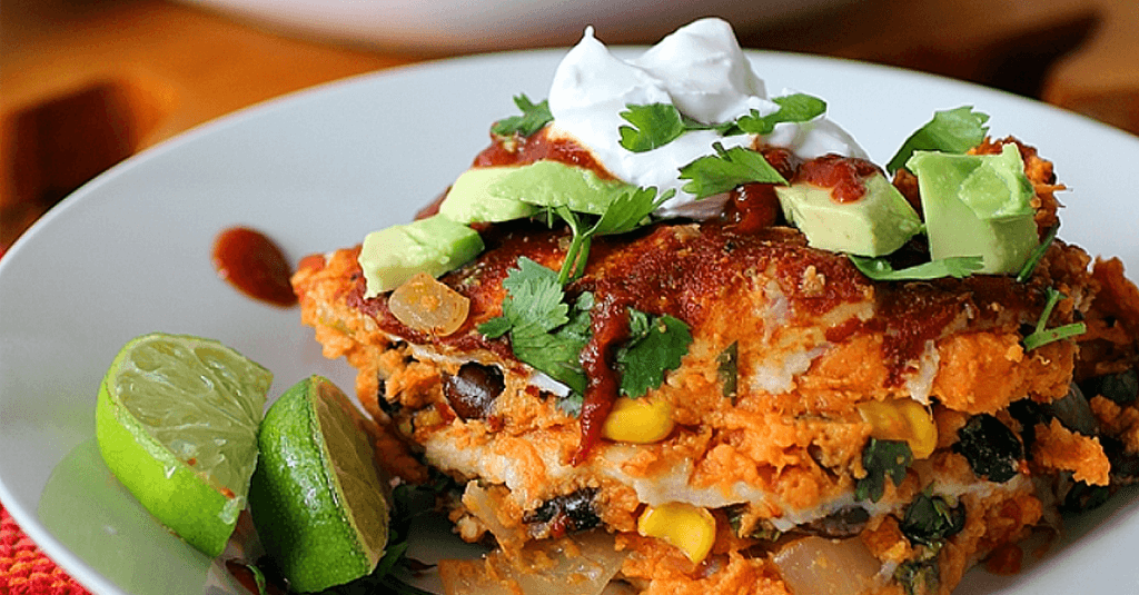 Vegan Sweet Potato Enchilada Casserole Very Vegan Recipes