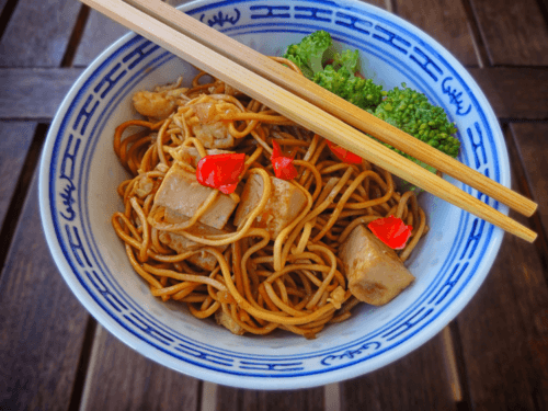 Vegan Singapore Noodles With Fried Tofu recipe