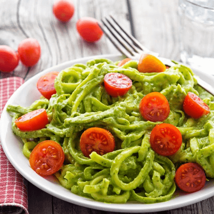 how to make vegan avocado pesto zoodles