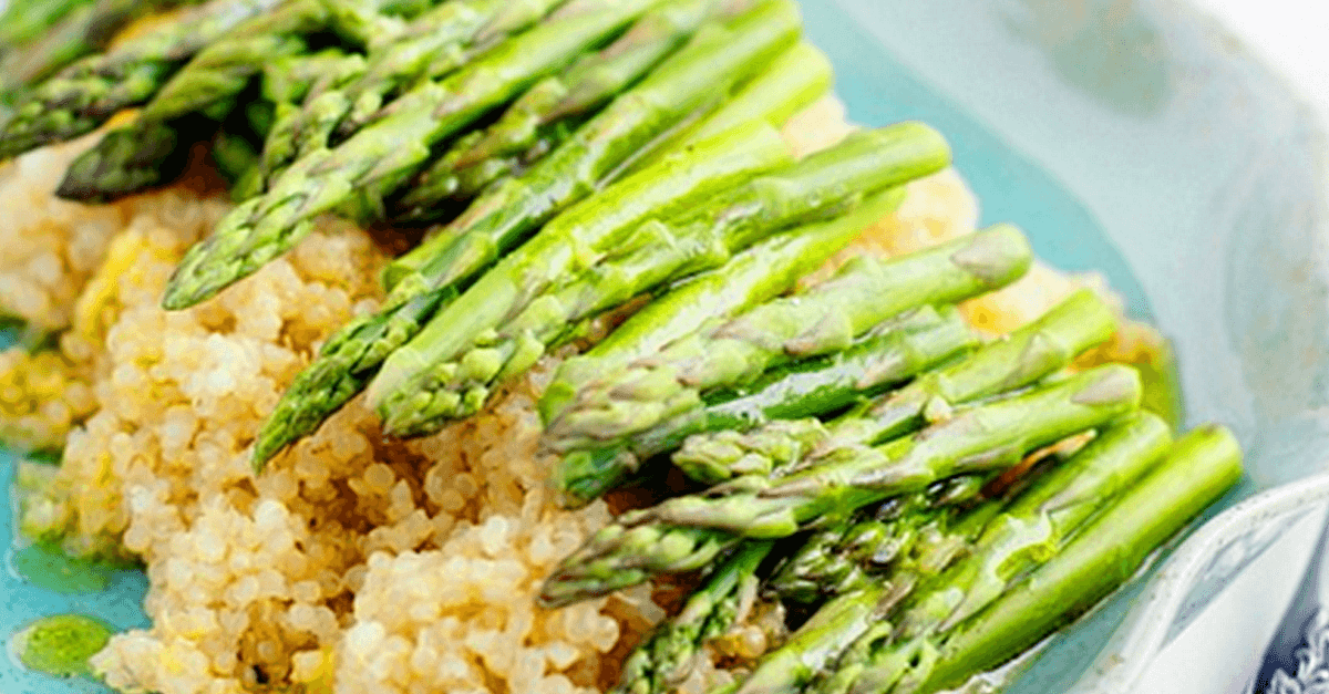 how to make vegan quinoa and asparagus with lemon mustard vinaigrette recipe - Vegan Quinoa And Asparagus With Lemon Mustard Vinaigrette