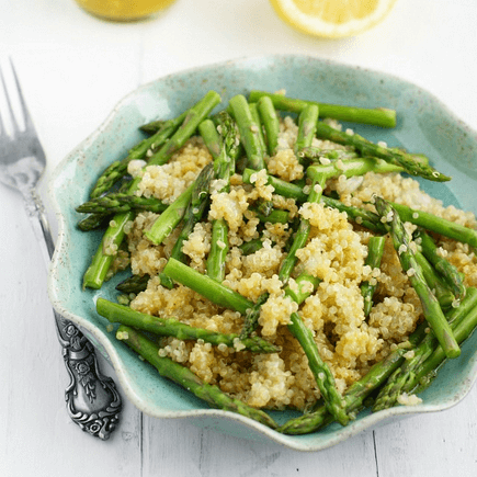 how to make vegan quinoa and asparagus with lemon mustard vinaigrette - Vegan Quinoa And Asparagus With Lemon Mustard Vinaigrette