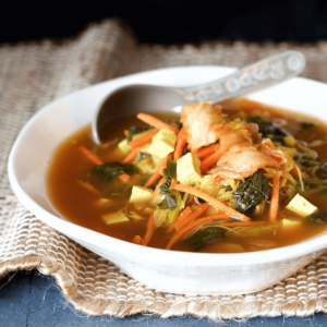 how to make vegan asian vegetable soup with kimchi