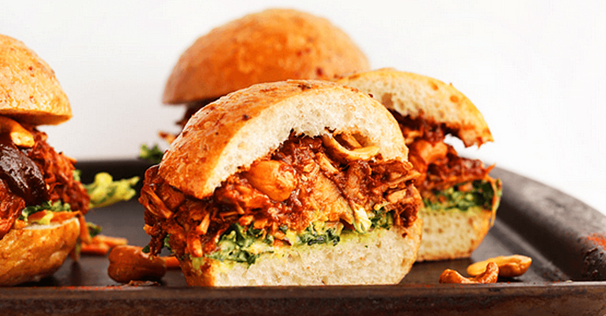 Vegan Bbq Sandwiches With Avocado Slaw Very Vegan Recipes