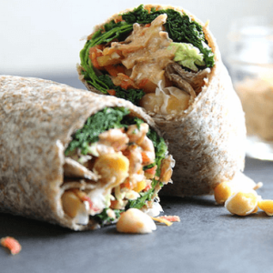 how to make vegan bean wrap with spicy tomato mayo