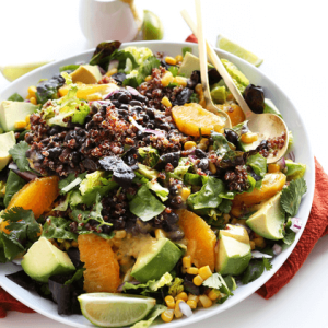 how to make vegan mexican quinoa salad with orange lime dressing