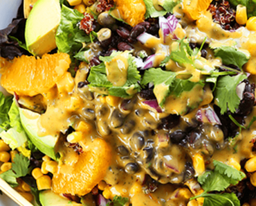 how to make vegan mexican quinoa salad with orange lime dressing recipe 370x297 - Vegan Mexican Quinoa Salad With Orange Lime Dressing