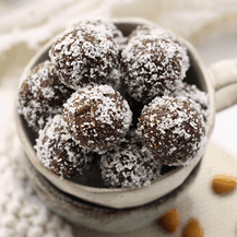 how to make vegan no bake almond joy energy balls