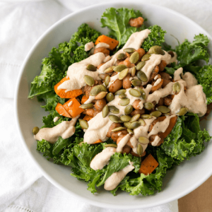 how to make vegan southern kale salad with smoky ranch