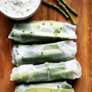 how to make vegan spring green vegetable rolls