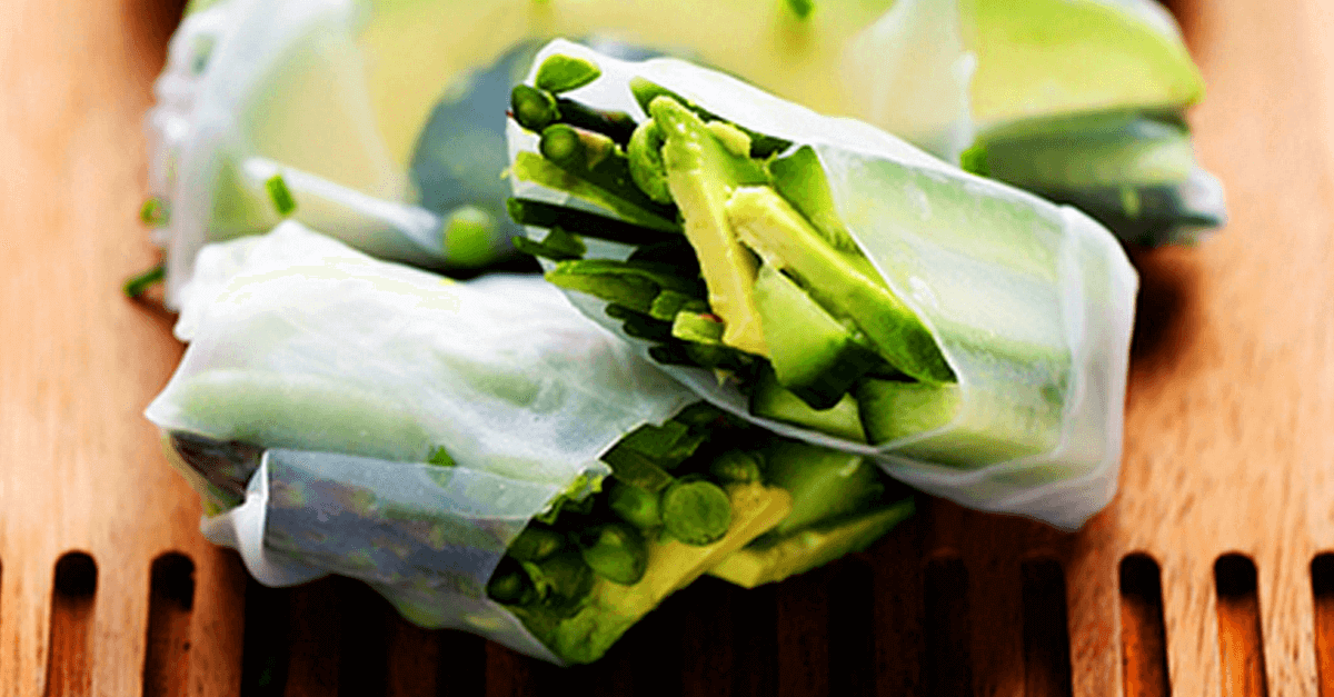 how to make vegan spring green vegetable rolls recipe - Vegan Spring Green Vegetable Rolls