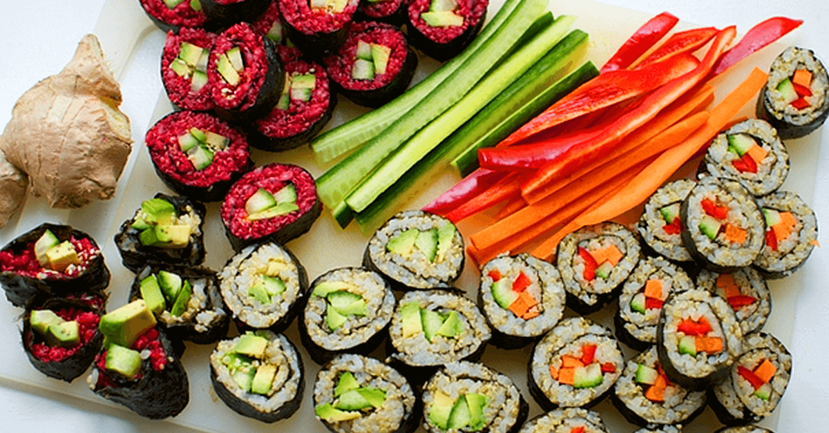 how to make vegan sushi with quinoa and beet recipe - Vegan Sushi With Quinoa And Beet