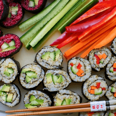 how to make vegan sushi with quinoa and beet - Vegan Sushi With Quinoa And Beet