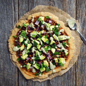 how to make vegan bbq chickpea pizza