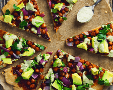 how to make vegan bbq chickpea pizza recipe 370x297 - Vegan BBQ Chickpea Pizza
