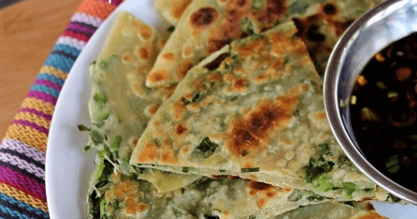 vegan scallion pancakes with dip healthy vegetarian diet